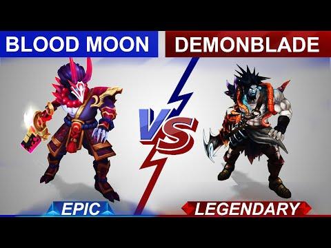 Blood Moon Tryndamere vs Demonblade Tryndamere Skin Comparison | SKingdom - League of Legends