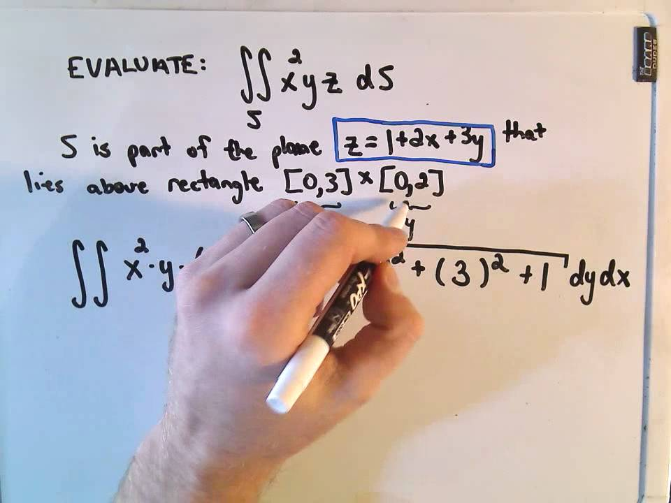 evaluating a surface integral - basic example