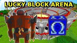 NAJSILNIEJSZY BOSS- CYBORG PARAGON- Lucky Block Arena- Minecraft Tritsus & Doknes