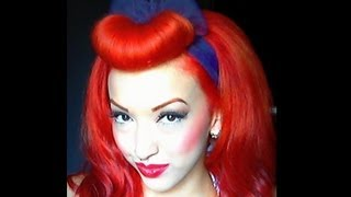 Pinup Faux Bangs Vintage Inspired | Hair Tutorial