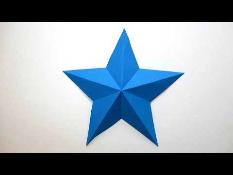 How to make a 3D paper star. Easy origami stars for beginners making  DIY Paper Crafts