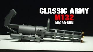 Classic Army M132 Micro Gun | 38 Rounds Per Second Minigun! | AIRSOFTGI.COM