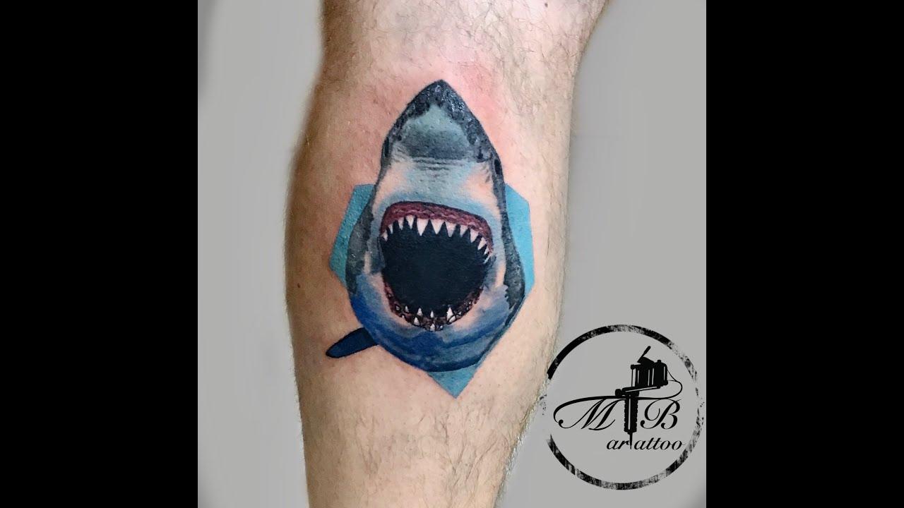 Realistic Shark Tattoo