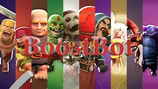 Clash of Clans 4 Fingers Attack with BoostBot