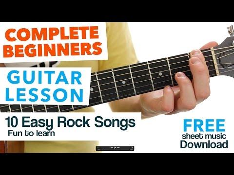 Learn 10 Easy Rock Songs for Beginners