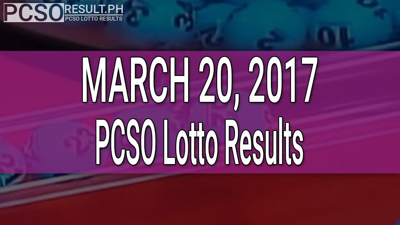 PCSO Lotto Results March 20, 2017 (6/55, 6/45, 4D, Swertres & EZ2) - YouTube