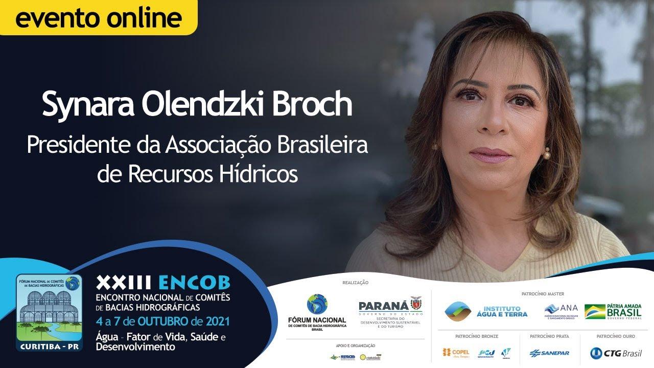 Presidente Synara O. Broch participará da mesa da abertura do XXIII ENCOB