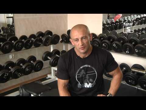 Trening z mistrzem Arkadiusz Misiak   suplementacja tv Kanał S Lubartów