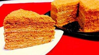 """Любимый Торт """"МЕДОВИК"""" О-о-очень Вкусный и Нежный Медовый Торт"""