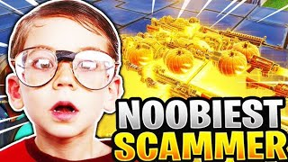 Noobiest Scammer Loses His Insane Inventory! (Scammer Gets Scammed) Fortnite Save The World
