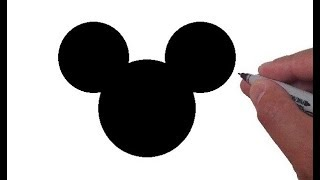 How to Draw the Mickey Mouse Logo - EASY!