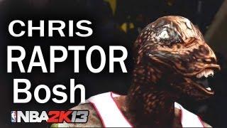Repeat youtube video Chris Bosh Turns Into 8FT RAPTOR ! NBA 2K13 HD