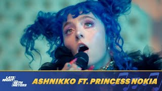 Ashnikko ft. Princess Nokia - Slumber Party (Live On Late Night with Seth Meyers)