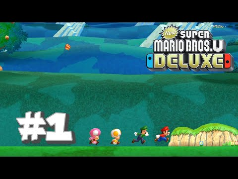 New Super Mario Bros U Deluxe #1 - Acorn Plains (Part 1)