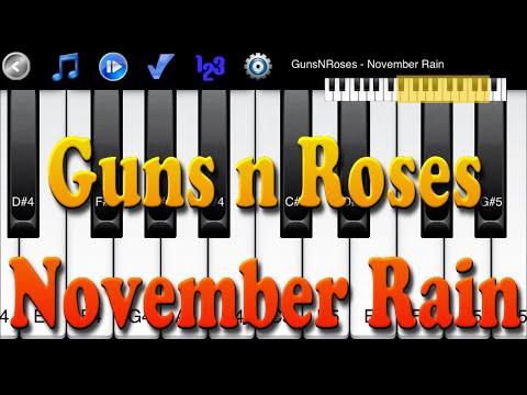 Guns N Roses - November Rain - How To Play Piano Melody