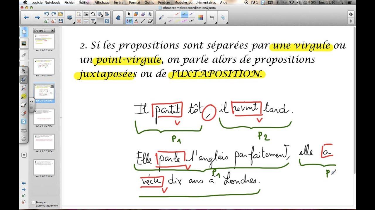 Phrase complexe : coordination & juxtaposition - YouTube