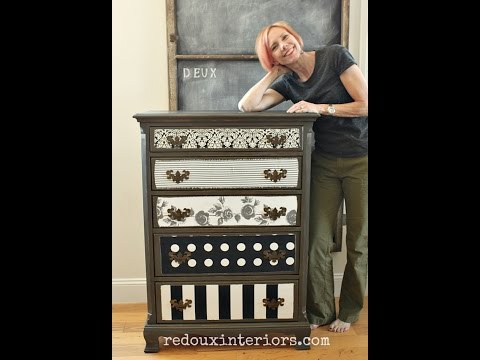 decoupage-fabric-over-painted-wood