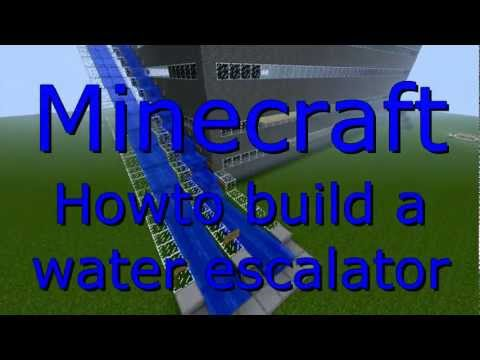 minecraft how to build a escalator
