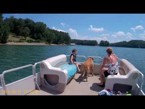 Lake Lanier, Georgia. Boat fun and Island Exploring with the Grandkids 6/21/2016