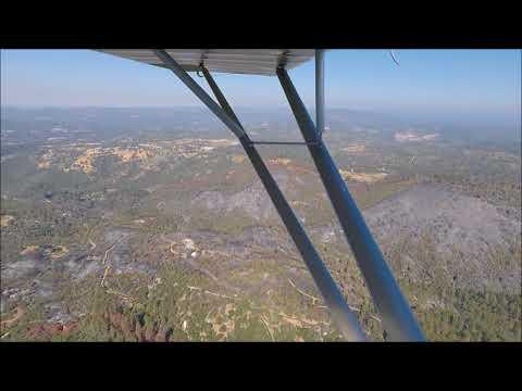 Lobo Fire 829 Acres Nevada County Ca Flyover