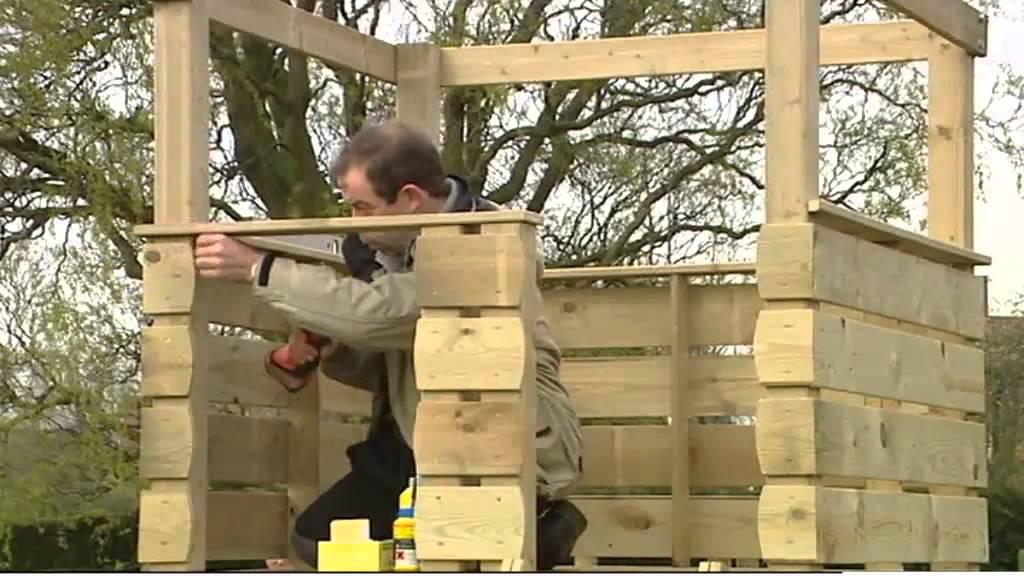 Construire une cabane sur pilotis youtube - Construire cabane jardin ...