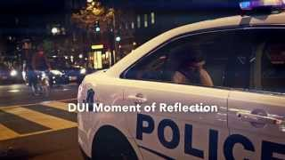 DUI Moment of Reflection Cop Car