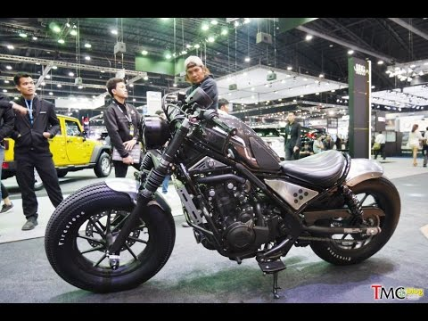 Honda rebel 500 Custom H2C - YouTube