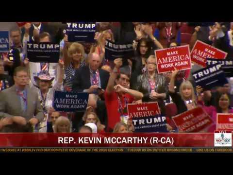 House Majority Leader Kevin McCarthy Speaks at RNC (7-19-16)