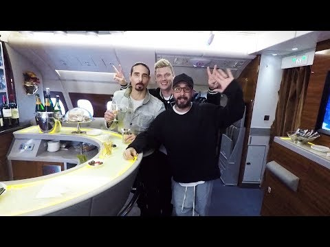 The Backstreet Boys fly the Emirates A380   Emirates Airline