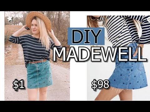 DIY Madewell Skirt || VERY EASY