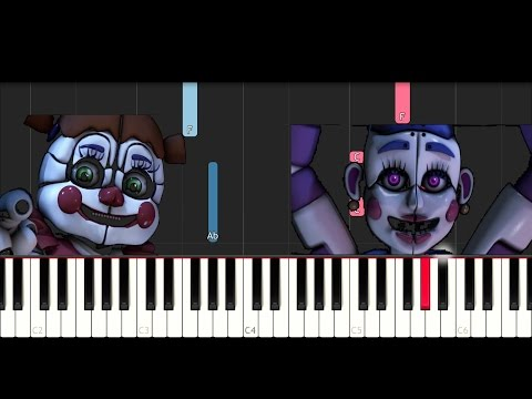 Fnaf Song - Join Us For A Bite (SLOW EASY PIANO TUTORIAL)