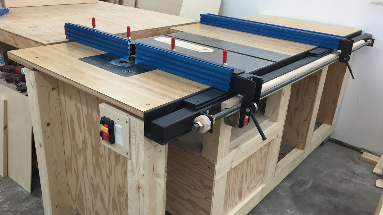 Combination Saw Bench Part - 17: Table Saw Station - YouTube