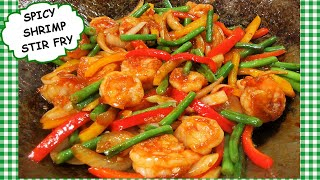 Chinese SPICY SHRIMP and Vegetable Stir Fry Recipe