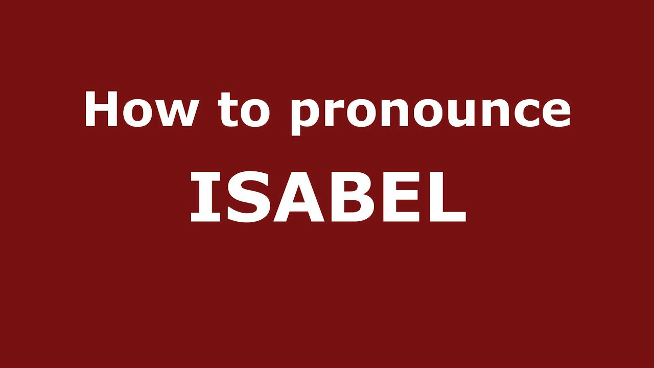what does isabel mean in english