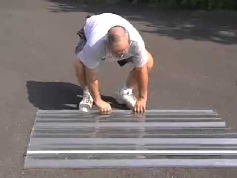 H Amp F Mfg Corp Polycarbonate Roofing Panels Youtube