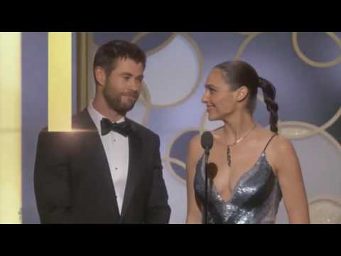 Thumbnail: Chris Hemsworth & Gal Gadot present at 74th Golden Globe Awards
