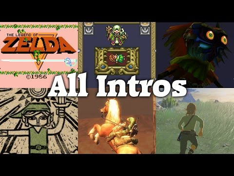 The Legend of Zelda series - All Intros (1986 - 2017) | Full HD 60fps