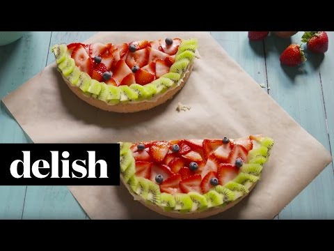 How To Make Watermelon Cookie Tart  Delish