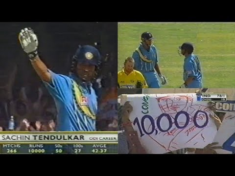 India Vs Australia 3rd ODI 2001 Highlights | Sachin Reaches 10,000 ODI Runs, India Crush Australia!!