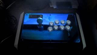 Madcatz TE Fightstick Mod - Akishop PS360+, Sparky PWM SMD Dual Mod and LED mod!