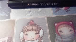 Обзор маркеров телесного цвета ; ) и немного моих рисунков( ужасный голос)