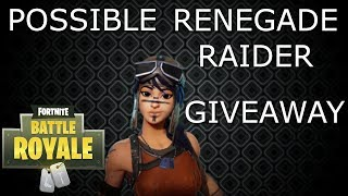RENEGADE RAIDER GIVEAWAY? - FORTNITE BATTLE ROYALE - SOLO GAMEPLAY