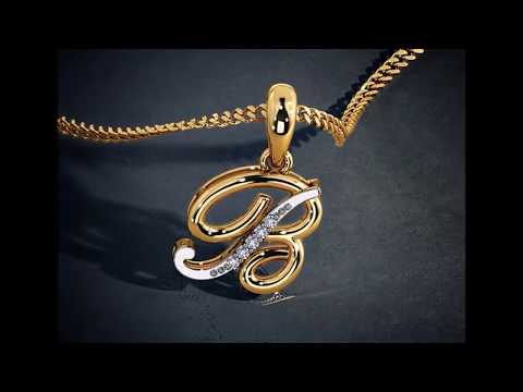 LATEST ALPHABET PENDANT DESIGNS IN GOLD, GOLD PENDANT DESIGNS, GOLD JEWELLERY