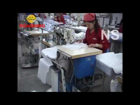 NGAI SHING NS 6022 Front Placket Interlining Cutting Device with Stackerdouble thread