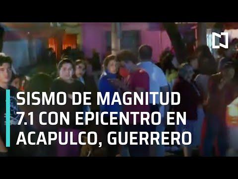 Sismo de magnitud 7.1 en Acapulco, Guerrero