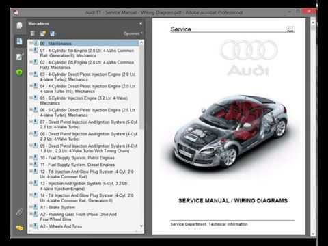 Audi Tt Mk2 Hj Service Manual Wiring Diagrams Youtube