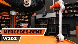 Hogyan cseréljünk Lengőkar MERCEDES-BENZ C-CLASS (W203) - online ingyenes videó