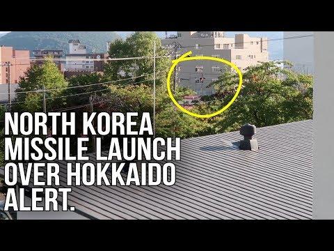 North Korea Missile Warning in Hokkaido Japan