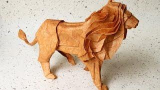 Как сделать Льва из бумаги Оригами