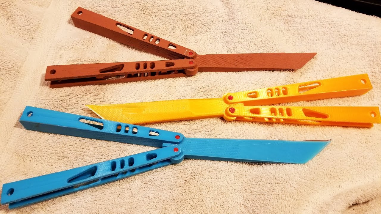 Best 3D Printed Balisong  3D Printed Butterfly Knife